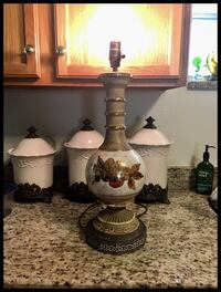 vintage ceramic table lamp base 758 mi