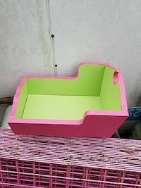 baby's green and pink wooden cradle Hertford, 27944