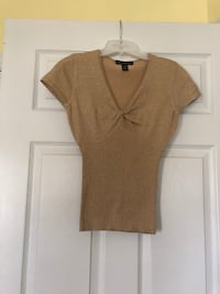 brown v-neck cap-sleeved shirt Gaithersburg