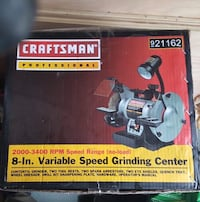 Craftsman  Professional 8 inch variable speed grinding center  Silver Spring, 20904