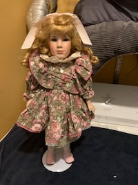 "Porcelain doll 17 1/2"" tall Jessup, 20794"