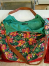 green and red floral bag Washington, 20001