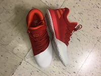 Red-and-white adidas lace-up running shoes size 8.5 and9.5 Toronto, M6G 3B1