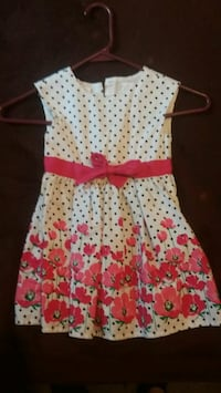 white and red flowers sleeveless dress Columbus, 43211