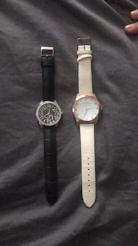 Black guess watch and white Marc Jacobs watch Stoney Creek, L8E 5J3