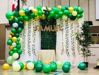 Backdrop and Balloon garland for any events! Toronto