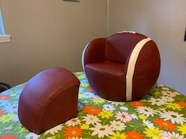 Kids leather football chair