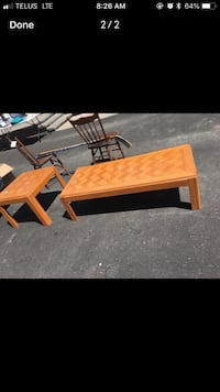 Brown End table and coffee table