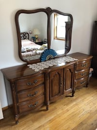 70's dresser with mirror  77 long MIGHT DELIVER  New York