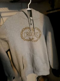 gray and black The North Face pullover hoodie Edmonton, T6X 1M4