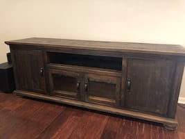 Distressed solid wood Media Console