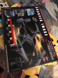 black Sharper Image DX-3 video drone box