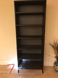 black wooden 5-layer shelf CAPITOLHEIGHTS