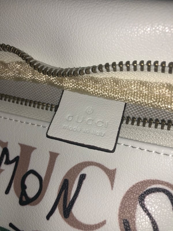 White Leather Gucci 'Common Sense Is Not That Common' White belt bag / bum bag 3