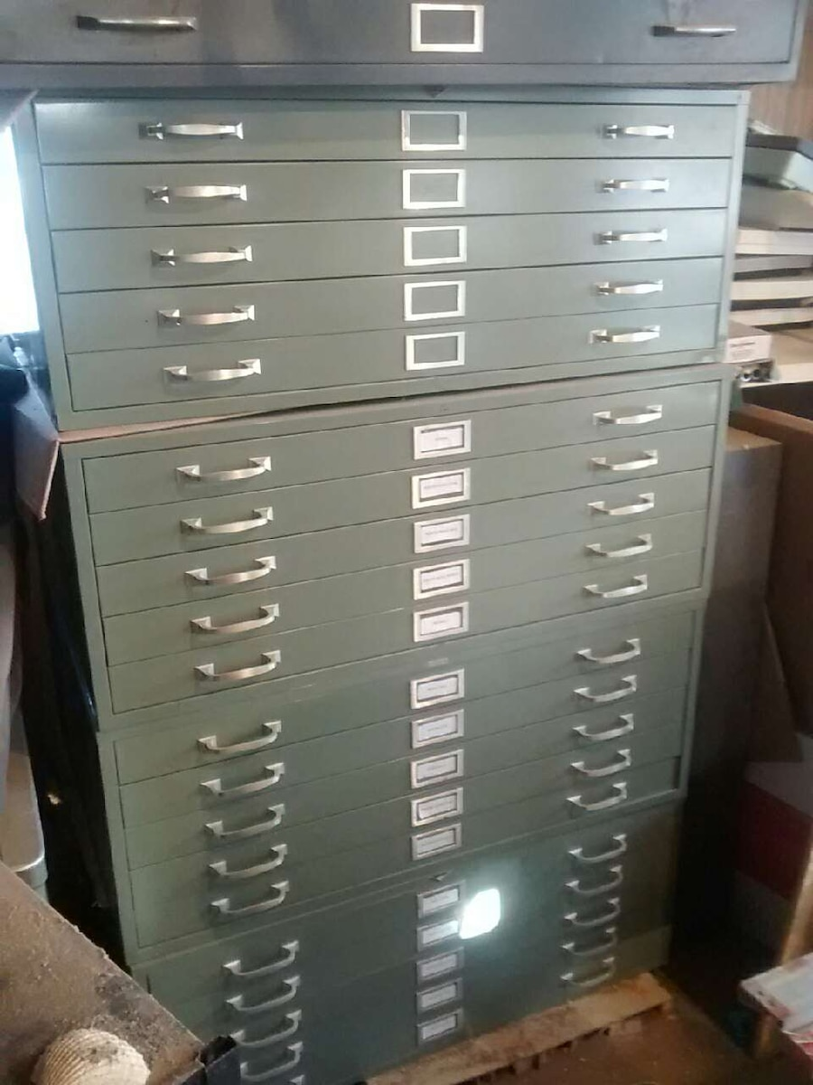 Used cole steel 5 drawer blueprint cabinets in greensboro malvernweather Gallery