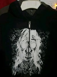 Awesome skull face zip-up Ezekiel hoodie