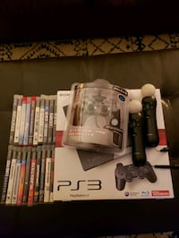 PS3 2 controllers, good games, motion setup sold Chicago, 60625