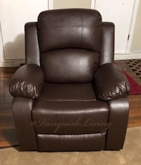 Brand New Espresso Leather Recliner Sofa Chair Very Comfortable Luxury