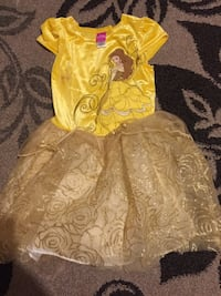 Yellow and beige Disney Princess Belle tutu dress Moreno Valley, 92553