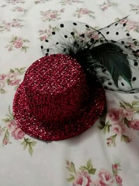 Pink sparkle dress hat