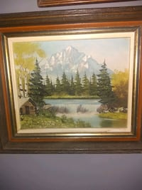 Mountain scape painting