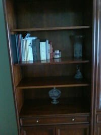 brown wooden book shelf with cabinet Toronto, M6N