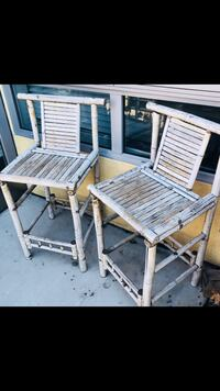 two white wooden rocking chairs Los Angeles, 90046