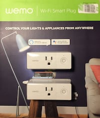 WEMO MINI - WiFi Smart Outlet (2 pk) New and unopened Chantilly