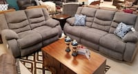 New 2pc reclining sofa  love seat set tax included free delivery Hayward