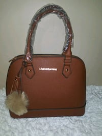 brown leather 2-way handbag District Heights, 20747