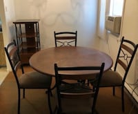 Brown dining room set & Tv stand Montreal