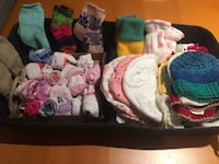 assorted socks and hats