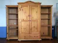 Brown wooden cabinet with shelf 40 km