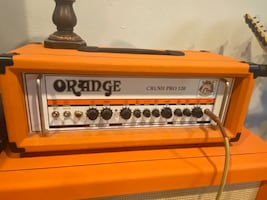 Orange amplifiers crush pro 120 duel channel solid state amp head.
