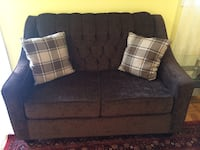 Blue fabric loveseat with throw pillows Mississauga, L5C 3E2