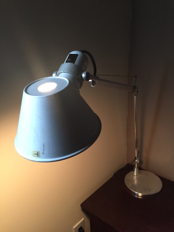 grey stainless steel study lamp 2