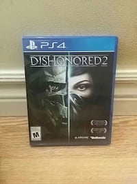 PS4 Dishonored 2 game case Gorham, P7G 1E7