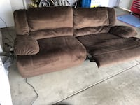 Brown suede motor recliner $500 obo 2304 mi