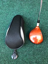 TaylorMade Burner SuperSteel 3 Wood with Head Cover, Stiff Flex