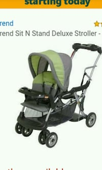 Sit and stand Lx (double stroller) w/car seat expansion by baby trend