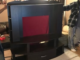 TV stand with both sides Storage in the drawer underneath