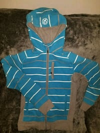 blue and white striped zip-up hoodie Lululemon Halifax, B3S 1B3