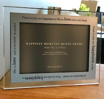 Happiness Quote (George Sand) Mirrored/Glass Swing Photo Frame 4x6
