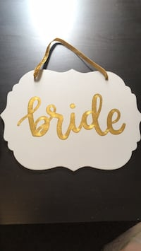 Bride gold and teal sign Chicago, 60608