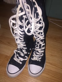 Knee-high converse style shoes Guelph, N1G 1C9