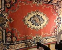 red, white, and blue floral area rug Burke, 22015