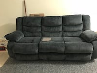 gray suede 3-seat recliner sofa Arlington, 22205