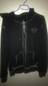Double stitched rare black true religion hoodie Oshawa, L1G 0B3