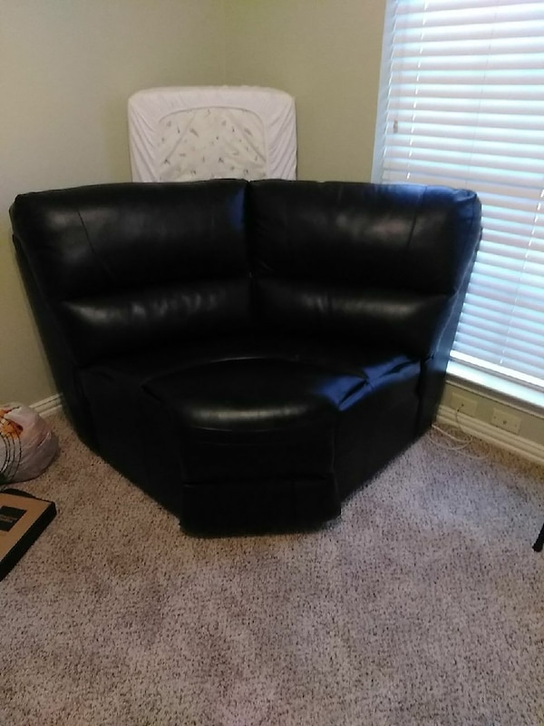 Black Leather Cuddle Chair