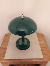 dark green bedroom lamp, with shade attached ETOBICOKE